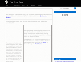trueghosttales.com screenshot