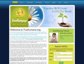 truehumans.org screenshot