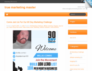 truemarketingmaster.com screenshot