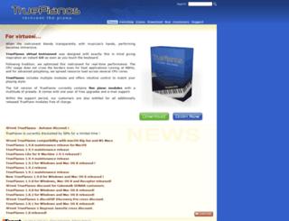 truepianos.com screenshot