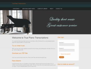truepianotranscriptions.com screenshot