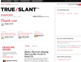 trueslant.com screenshot