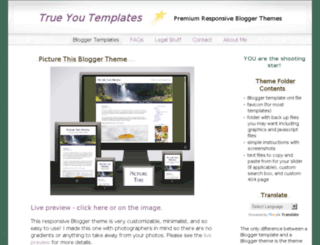 trueyoutemplates.blogspot.com screenshot