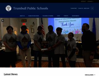 trumbullps.org screenshot