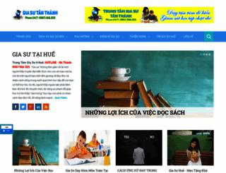 trungtamgiasuhue.com screenshot
