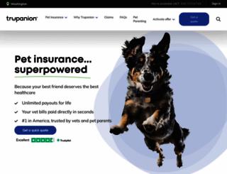 trupanion.com screenshot