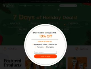 truskinnaturals.com screenshot