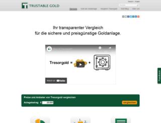 trustablegold.de screenshot