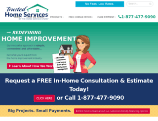 trustedhomeservices.com screenshot