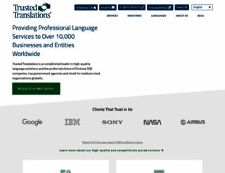 trustedtranslations.com screenshot