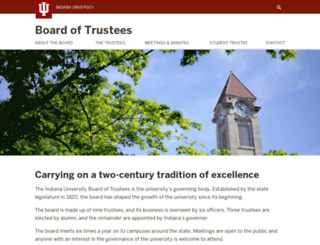 trustees.iu.edu screenshot