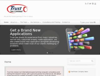 trustsec.co.ke screenshot