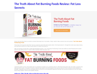 truth-about-fat-burning-foods.weebly.com screenshot