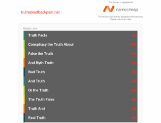 truthaboutbackpain.net screenshot
