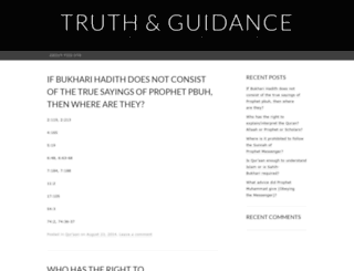 truthandguidance.wordpress.com screenshot