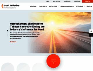 truthinitiative.org screenshot