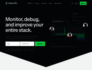 try.newrelic.com screenshot