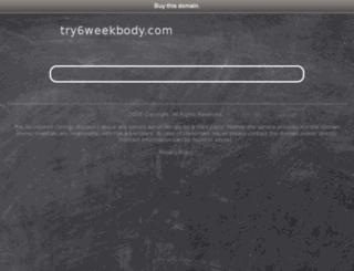try6weekbody.com screenshot