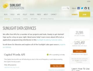 tryit.sunlightfoundation.com screenshot