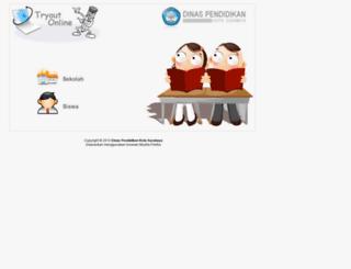 tryoutonline.dispendik.surabaya.go.id screenshot