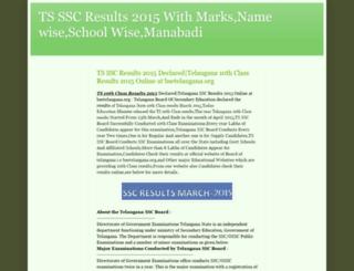 ts-ssc-results.blogspot.in screenshot