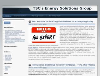 tscenergysolutions.com screenshot