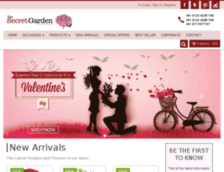 tsgflowers.com screenshot
