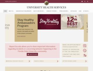 tshc.fsu.edu screenshot
