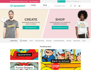 tshirtko.spreadshirt.com screenshot
