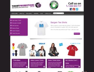 tshirtpromotions.com.au screenshot