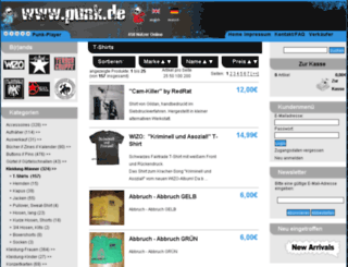 tshirts.punk.de screenshot