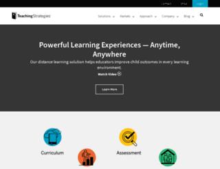 tsiweb15.teachingstrategies.com screenshot