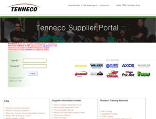 tsp.tenneco.com screenshot