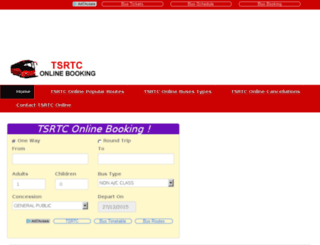 tsrtconlinebookings.com screenshot