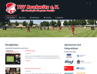 tsv-rackwitz.de screenshot