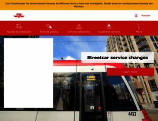 ttc.ca screenshot
