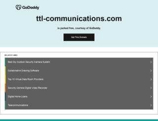 ttl-communications.com screenshot