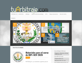 tuarbitraje.com screenshot
