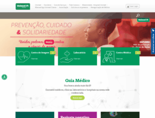 tubarao.unimedsc.com.br screenshot