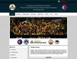 tubogrencikongresi2016.comu.edu.tr screenshot