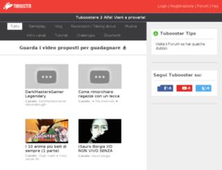 tubooster.com screenshot