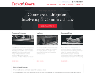 tuckercowen.com.au screenshot