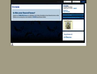 tuckerfuneralhomes.tributes.com screenshot