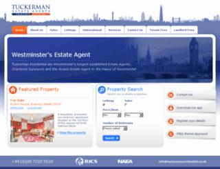 tuckermanresidential.co.uk screenshot