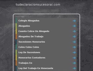 tudeclaracionsucesoral.com screenshot