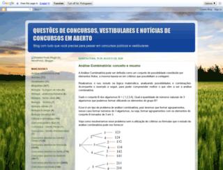 tudodeconcursosevestibulares.blogspot.com.br screenshot