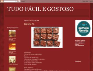 tudofacilegostoso.blogspot.com.br screenshot