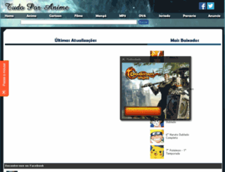 tudoporanime.com.br screenshot