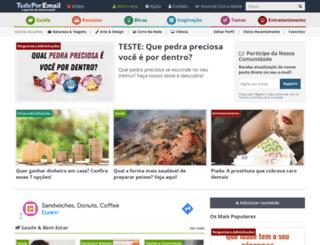 tudoporemail.com.br screenshot