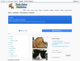 tudosobrebichinhos.com.br screenshot